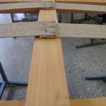 Ny sadelgjord spikad av tapetseraren