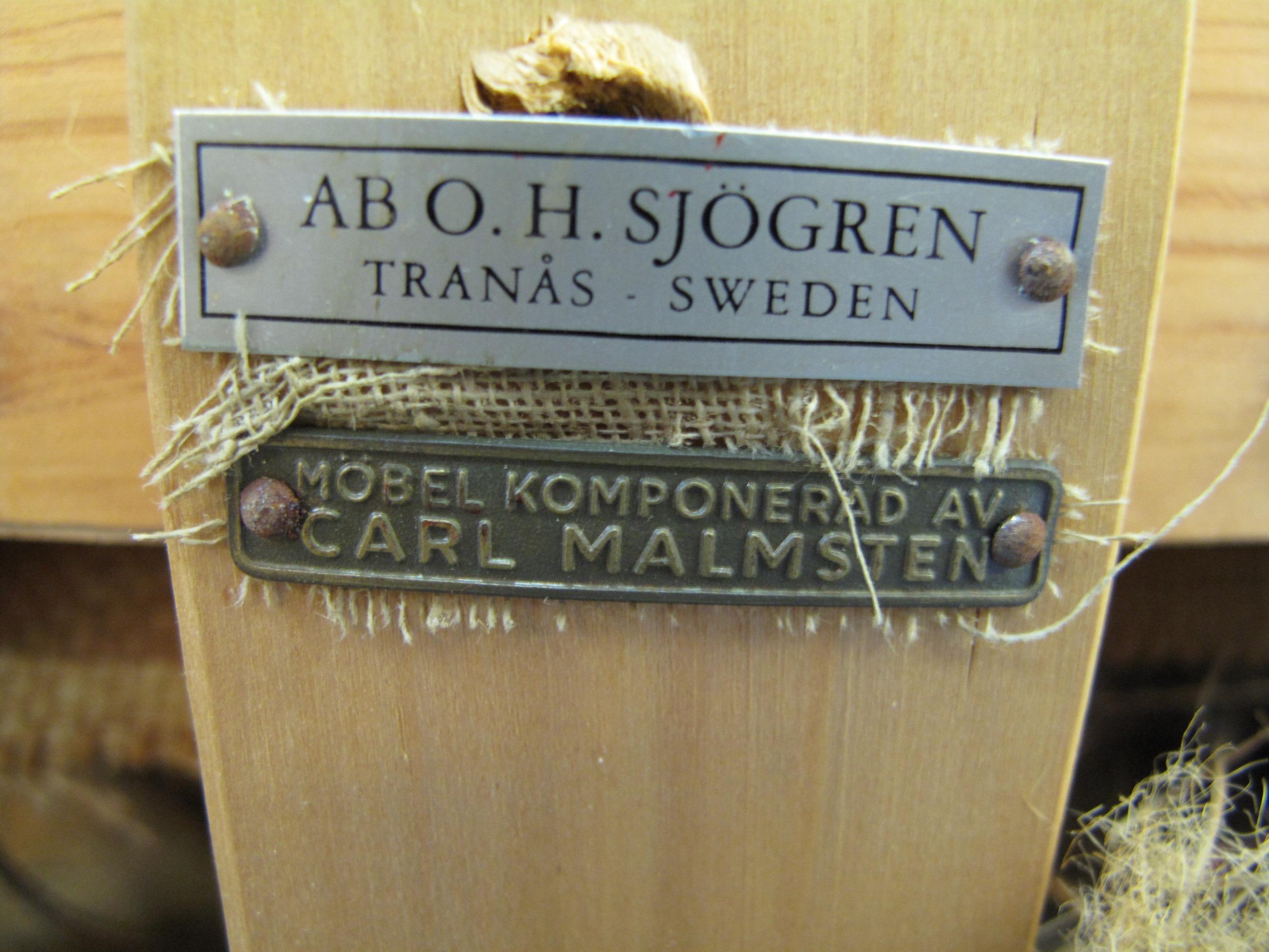 Märkt med Carl Malmsten