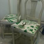Omklädsel stol hos tapetsere i solna / stockholm