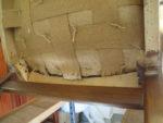 Ny sadelgjord på stol